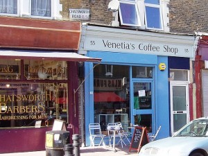 Venetia's Coffee Shop, 55 Chatsworth Road. Lower Clapton, E5, London, England